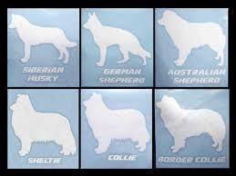 australian shepherd husky decal dog breeds siberian husky german shepherd