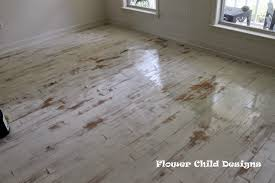 Distressed Flooring Laminate Flower Child Designs Oh Yes I Did Paint My Wood Floors Thank You