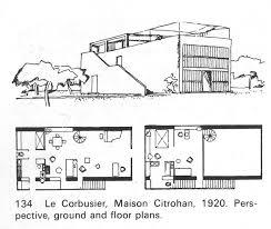 Architectural Building Plans Maison Citrohan France Google Search Corbu Pinterest Le