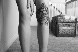 knee rose ouch tattoos pinterest knee tattoo rose tattoos