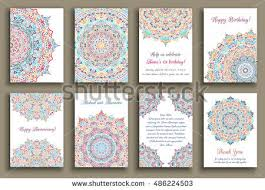 baby shower colors set geometric abstract colorful flyers brochure stock vector
