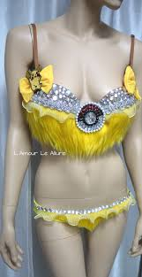 pikachu pokemon bra costume cosplay dance costume rave bra rave