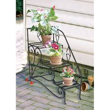 delightful 3 tier flower planters design with wrought iron frames