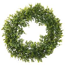 artificial boxwood wreath smycka artificial wreath in outdoor box 45 cm ikea