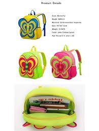 funny kids waterproof backpack children bags butterfly