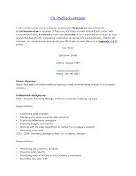 how to write a cv profile sample starengineering