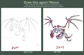 How To Draw Meme - oc dragon draw this again meme by nofeather on deviantart