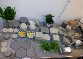 cement garden succulents pots concrete geometrical succulents vase