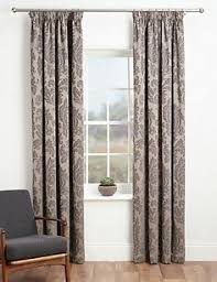 Damask Kitchen Curtains by Fern Grey Lined Eyelet Curtains Dunelm Kitchen Curtains