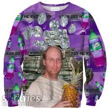 lean x pineapple sweater u2013 shelfies internet memes collection