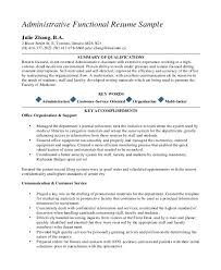 example of functional resume