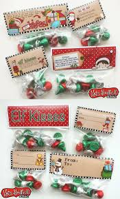 free elf kisses bag toppers christmas favors bag toppers and