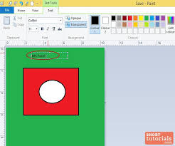 how to add insert text in ms paint windows 8
