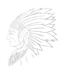 native american chief sketch by viridiansoul on deviantart