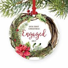 engaged ornament engagement ornament personalized