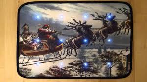 Disney Doormat Traditional Father Christmas Sleigh Musical Christmas Door Mat