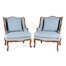 French Wingback Chair Pair Of Rare French Walnut 19th Century Wingback Chairs Fq 321