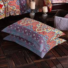 Bohemian Style Comforters Bedroom Awesome Bohemian Style Bed Sheets Teal And Black Bedding