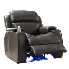 Recliner With Cup Holder Homelegance Jimmy Power Reclining Chair W Massage Led U0026 Cup