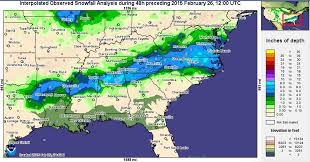 Snowfall Totals Map National Snow U0026 Ice February 2015 State Of The Climate