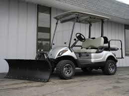 our 54 inch m u0026m poly snow plow kit works great on golf cars too