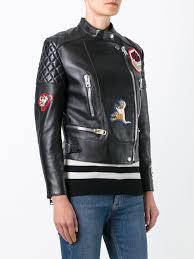 biker jacket women coach leather bags coach patched biker jacket women clothing