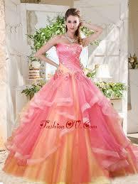 best quinceanera dresses fashionable rainbow big best quinceanera dresses with