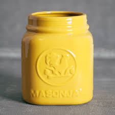 mason jar utensil holder relish decor mason jar canister yellow utensil holders relish decor