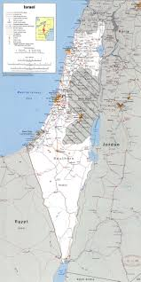 Map Of The Up Large Detailed Political Map Of Israel With The West Bank Gaza