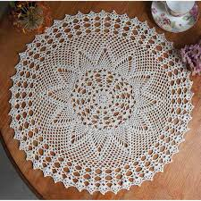 vintage cotton crocheted lace doily placemat mat home
