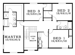 bungalow blueprints floor plan for four bedroom bungalow small home modern style house