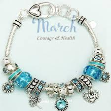 bracelet pandora murano images Aquamarine march birthstone charm bracelet murano beads pandora jpg