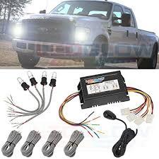 strobe lights for car headlights amazon com ledglow 4pc automotive hid xenon strobe headlight kit