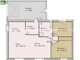 plan maison 2 chambres plain pied maison individuelle c t a de plain pied avec 2 chambres 70 m