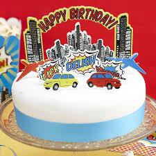 Cake Decorations Store Pop Art Comic Superhero Birthday Party Decorations Supplies