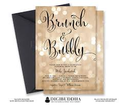 chagne brunch invitations bokeh brunch bubbly invitation chagne bridal shower gold