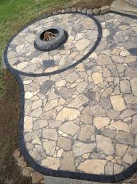 Cost For Flagstone Patio by Canadian Flagstone Patio With Unilock Paver Accent Bricks By