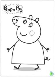 peppa pig colouring coloring pages