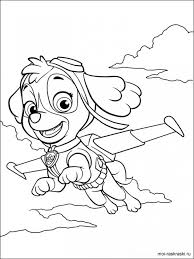 paw patrol preschool coloring pages print 94026