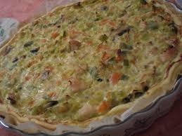 recette de cuisine quiche au poulet tarte poireaux carotte poulet et chèvre frais manou et sa cuisine
