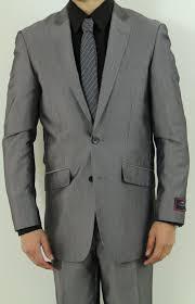 Mens Dress Clothes Online Men U0027s Two Button Charcoal Slim Fit Suit Nail Head Pattern Men U0027s