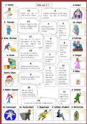 english exercises describing occupations