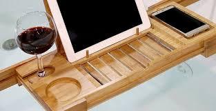 laptop bathtub bathroom glamorous wood caddy wonderful wooden bathtub caddy