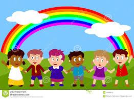 rainbow clipart child pencil and in color rainbow clipart child