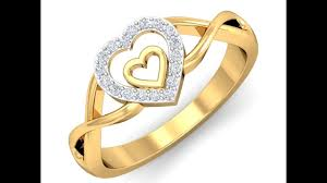 love shaped rings images Love symbol shape gold and diamond rings jpg