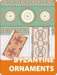 byzantine ornaments vinyl ready vector clipart package
