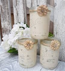 Mason Jar Candle Ideas 2014 Party Candles Ideas Shabby Chic Country Upcycled Mason Jar
