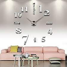amazon com chinatera modern mute diy large wall clock 3d sticker