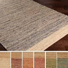 8x10 Jute Area Rug Hand Woven Sandbach Jute Cotton Rug 8 U0027 X 10 U0027 Free Shipping
