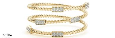 bracelet fine images Fine 14k gold open twist bangle diamond bracelet setra jpg